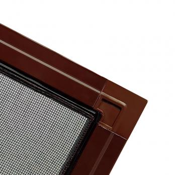 Москитная сетка  на пластиковых креплениях на окна и двери ПВХ коричневая, м.кв.