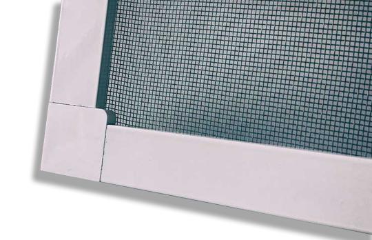 Москитная сетка  на пластиковых креплениях на окна и двери ПВХ белая, м.кв.