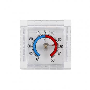 Оконный термометр биметалический квадрат