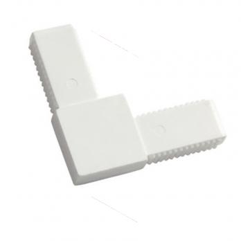Соединительный уголок пластик (белый) цельнолитой