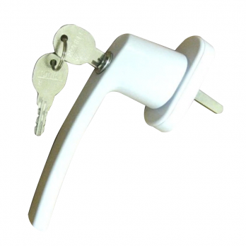 Ручка для окна с ключом белая