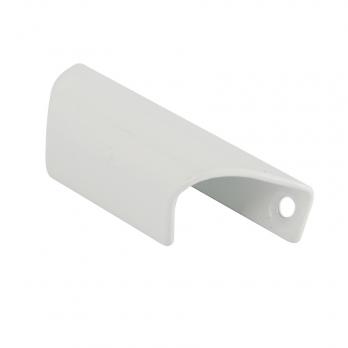 Ручка балконная (ракушка) металл белая