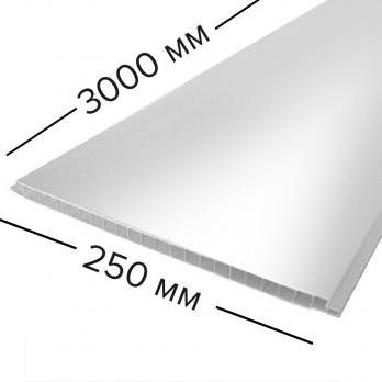 Панель стеновая ПВХ 250*3000х10 мм белая матовая, шт.